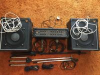 TORQUE AMPLIFIER (TORQUE ACOUSTICS T 150) + 2 TORQUE SPEAKERS + ACCESSORIES
