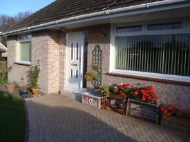 2 bedroom bungalow in quiet private development, Mains gas heating, garden, garage parking.