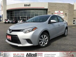 2016 Toyota Corolla LE. Keyless Entry, Heated Seats, Bluetooth.