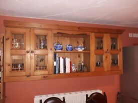 old pine wall unit