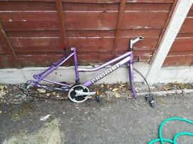 "18"" girls bike frame with gears"