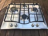 Hotpoint stainless steel 4 ring gas hob