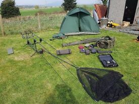 complete carp fishing setup/ could be used for pike fishing