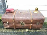 GENUINE VINTAGE TRUNK CHEST FREE DELIVERY 🇬🇧