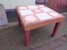 Coffee Table tiled Delivery Available
