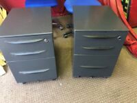 2 OFFICE FILLING CABINETS ON WHEELS,CAN DELIVER