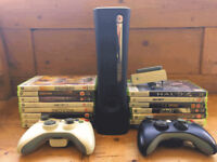 XBOX 360 + 15 GAMES + 2 CONTROLLERS + WIFI ADAPTER