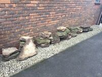 Garden rockery stone, Derbyshire gritstone (25 pieces, PRICE QUOTED PER STONE)