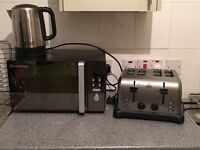 Russel Hobbs microwave, kettle and toaster