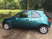 Ka 1.3 Collection. Low mileage long MoT. Great first car. Aircon, radio/cd, spoiler, exhaust trim
