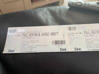 Standing tickets Paul Heaton bonus arena Hull Sunday 24th October.