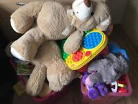 2large boxes of toys £35