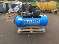 3phase compressor like new 7.5 hp. 270 litre tank