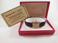 Must De Cartier Tank Tricolour 18ct Gold Vermeil Watch (Original box and papers/certificate)