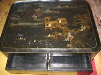Large Heavy Quality Vintage Oriental Lacquered Coffee Table.