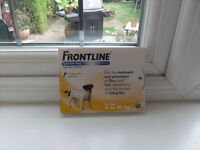 frontline flea treatment for dogs 2 - 10 kg x 6 pipettes new