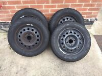 Ford Fusion/Fiesta 15 inch steel wheels + nearly new winter tyres