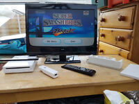 Nintendo Wii Setup With Super SmashBros Brawl game