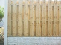 Concrete Fencing & Repair Service with Vacuum Treated Fence Panels(No painting/spraying required)