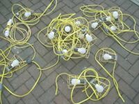 Job lot of 110v lights plus bits some working some for spares