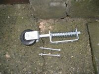 spring loaded gate wheels and drop bolt