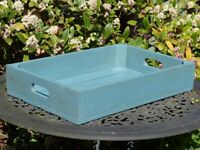 Rustic Serving Tray,Wooden Serving Tray,Garden Drinks Tray.Outdoor BBQ,Breakfast Tray.