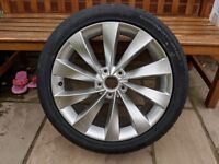 "Genuine VW Interlagos 18"" alloy wheel and tyre BRAND NEW"