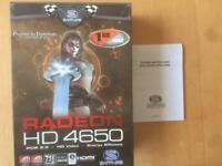 Sapphire ATi Radeon HD 4650 1GB Graphics Card as New
