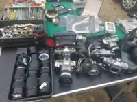 Joblot vintage 35mm film camera and lens