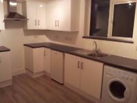 Modern 2 bed partly furnished flat.