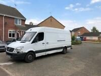 Man with a big van, competitive prices, friendly service, sofa, fridge, cooler.