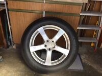 New 18 inch Alloy wheel and tyre