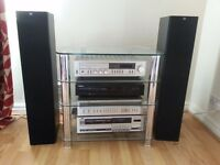 HIFI SEPARATES SYSTEM WITH GLASS STAND