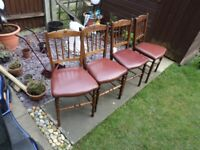4 lovely pine chairs
