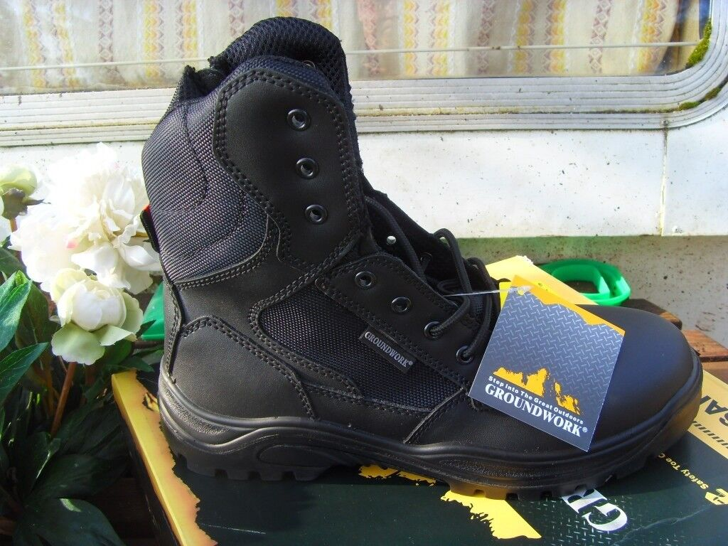 13030df1f5d groundwork safety boots with laces and zip sizes 7,8,9,10,11,12 and 13  steel toe collect/post | in Insch, Aberdeenshire | Gumtree