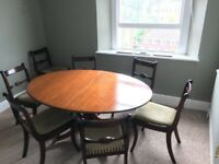 Mahogany Extending Dining Table and 8 chairs