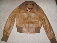 tan bomber jacket
