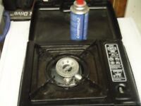 portable gas stove with 1 full butane gas cylinder