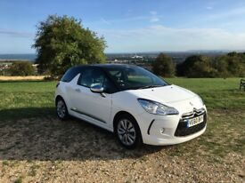Citroen DS3 1.6 HDi DStyle 3dr (White/Black) Sat Nav, Leather Seats, Full Service History