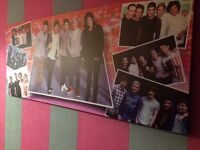 One Direction picture and life size cardboard Louis cut out