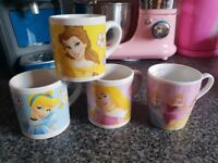 Disney Princess Small Mugs, set of 4