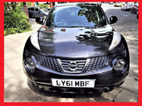 2012 Nissan Juke 1.6 --- Low 39800 Miles --- Low Mileage --- Black & Shiny --- Part Exchange Welcome