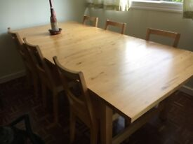 Ikea table and chairs
