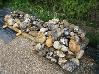 Large flint stones rocks suitable for rockery pond garden walls walling