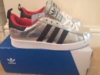 Adidas superstar 80 metal toe Silver. Size 6 eur 39.5