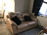 Sofas x2. Leather Free