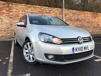 GT VOLKSWAGEN GOLF AUTOMATIC 2.0 TDI 1 YEAR MOT LOW MILES [not focus a3 fiesta civic bmw 1 polo]