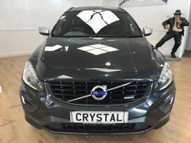 VOLVO XC60 2.0 D4 R-DESIGN 5d 178 BHP PART LEATHER + 6 MONTHS (grey) 2014
