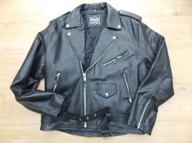 LEATHER MOTOR CYCLE JACKET FOR SALE