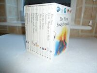 Childrens set of 12 books, My First Encyclopedia. Lots of pictures.